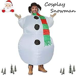 Amazon.com: Gbell - Disfraz hinchable de Navidad, muñeco de ...