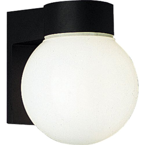 Progress Lighting P5698-31 Energy Efficient Lamp with Polycarbonate Diffuser That Can Be Wall Mounted, (31 Black Polycarbonate Lanterns)