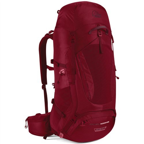 Lowe Alpine Womens Backpack - LOWE ALPINE MANASLU ND55:65 BACKPACK (RIO RED)