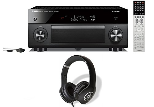 Yamaha RX-A3060 Network AV Receiver and Yamaha PRO-300 Headphones (Black) Bundle -