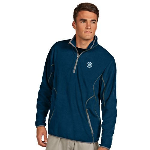 MLB Seattle Mariners Men's Ice Pullover, Navy/Steel, ()