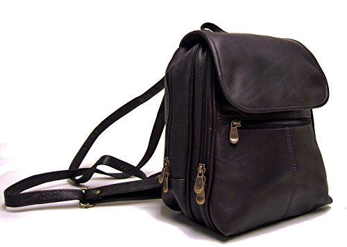 Le Donne Leather Everything Women's Backpack/Purse, One Size, Café by Le Donne Leather