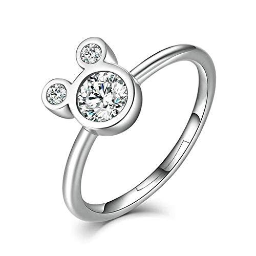 41zTM3ArlUL. SS500 DISEÑO – Olvide preocuparse por el tallaje, el anillo 24Joyas es un anillo abierto ajustable, adaptable a cualquier dedo. Está realizado en plata de ley 925 con una piedra principal brillante de 5 milímetros y cientos de piedras pequeñas alrededor del anillo, un diseño clásico que se mantiene siempre elegante y sofisticado a pesar del paso del tiempo, como el amor. JOYA ELEGANTE – El anillo es una joya refinada, con una delicada y atractiva discreción que distingue a las niñas, chicas y mujeres con buen gusto y elegancia.Ideal para combinar con cualquier vestido y/o ropa casual aportando un toque de belleza y distinción en cualquier situación. MATERIAL DE ALTA CALIDAD – Anillo construído con fina plata de ley 925 y zirconia cúbica de pureza 5A, antialérgica, no contiene constituyentes nocivos, no contiene níquel, no contiene plomo y no contiene cadmio.