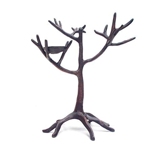 Schmuck Ständer Baum mit Nest, Schmuck Halter Ständer in Antik Bronze-Finish