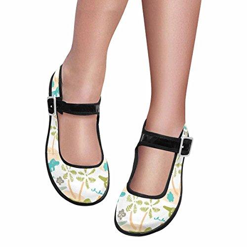 InterestPrint Women's Comfort Mary Jane Flats Casual Walking Shoes Africa, Kids Pattern US10 by InterestPrint