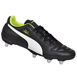Puma Men\'s Synthetic Leather Evopower Rugby Boots 9.5 UK Black