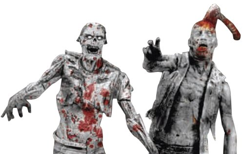 McFarlane Toys The Walking Dead Action Figures: Comic Book Series 1: Black & White Zombies 2-Pack
