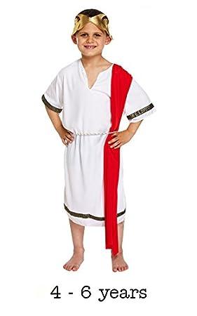 Niños Romano Senador Disfraz 4-6 años