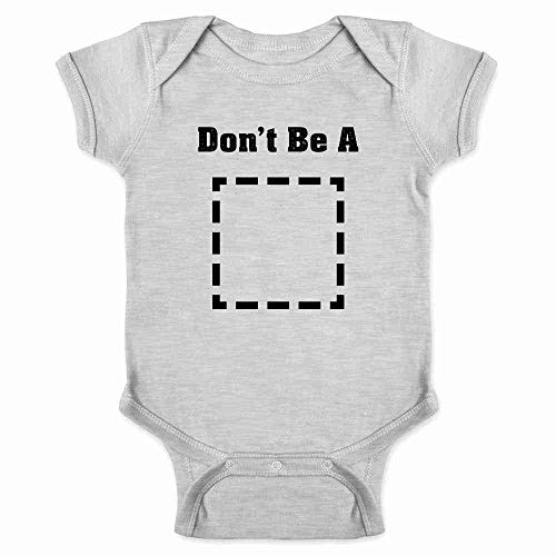 Pop Threads Don't Be A Square Funny Retro Cool Movie Gray 24M Infant Bodysuit