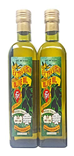 Massoud Extra Virgin Olive Oil 2 Pack (16.66 Ounce Bottles), First Cold Press, Limited Production Imported From Lebanon