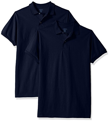 Jerzees Big Boys' Spotshield Youth Jersey Sport Shirt (2-Pack), Navy, Large - Jerzees Youth Jersey Polo