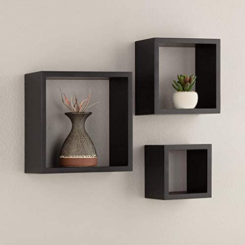 Pinnacle Frames And Accents 05fw1443 Black Floating Square Wall Shelves Nested Cubes Set Of 3 9 By 9 3 Buy Online At Best Price In Uae Amazon Ae
