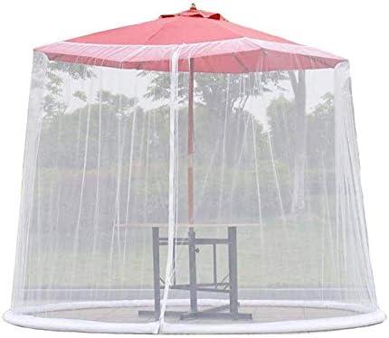 HYLHガーデン蚊カバー傘ネット画面ジッパー付き屋外テーブルパティオ家具は望楼パラソルの傘に合います