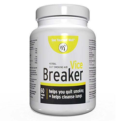 Vice Breaker: Quit Smoking for The Last Time. Works Fast - Stop Smoking Within 30 Days. Or Take with Nicorette, NicoDerm and Other Nicotine Gums, Patches or Lozenges.100% Natural & Herbal (Best Way To Quit Tobacco)