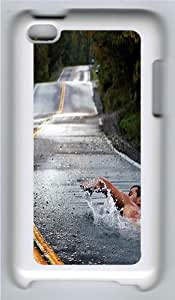 iPod Touch 4 Case and Cover -Water road PC case Cover for Apple iPod 4 and iPod Touch 4 White