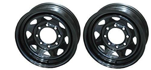 8 lug 16 inch black rims - 3