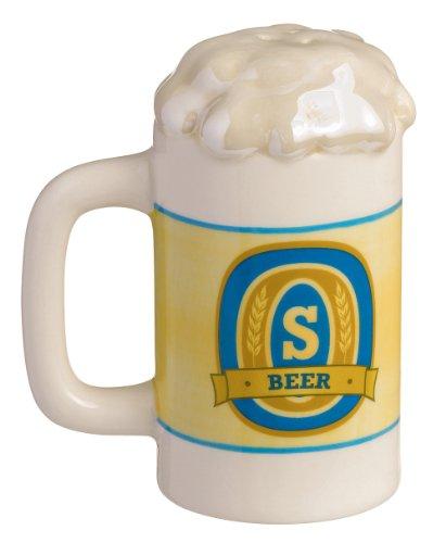Grasslands Road Beer 3-Pack Stein Salt and Pepper Shaker Set, 3-Inch