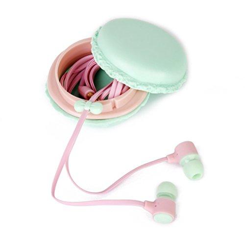 LEORX Linda auriculares In-Ear con caja de almacenamiento de colores (rosa)