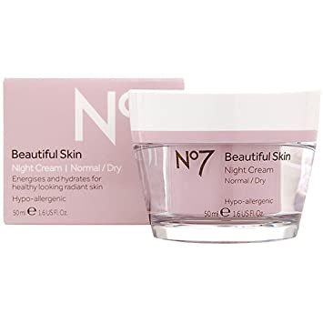No7 Beautiful Skin Night Cream For Normal Dry Skin 50Ml