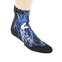 Vincere Classic Grip Sand Socks Soft Soled Booties for Boating Blue Lightning XS