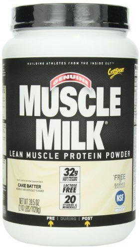 Cytosport, Inc, Genuine Muscle Milk, Lean Muscle Protein, Cake Batter, 39.5 oz (1120 g) by (Cytosport Muscle Milk Cake)