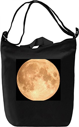 Moon Print Borsa Giornaliera Canvas Canvas Day Bag| 100% Premium Cotton Canvas| DTG Printing|
