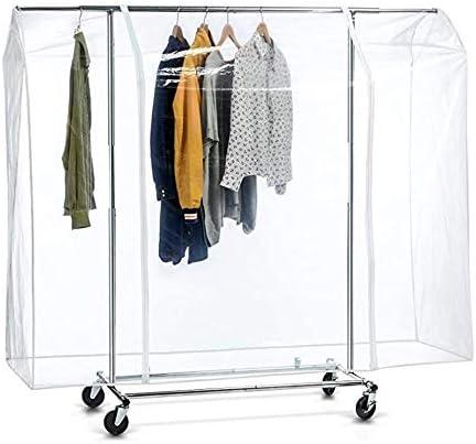 HJGHY Garment Rack Cover Dustproof Hanging Clothing Storage Bag Waterproof Garment BagsZipper