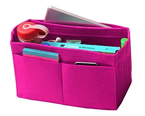 - [Fits Neverfull MM/Speedy 30, Pivoine] Felt Organizer, Bag in Bag, Wool Purse Insert, Customized Tote Organize, Cosmetic Makeup Diaper Handbag