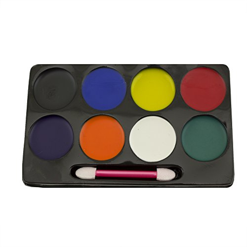 Adorox 8 Color Face Painting Makeup Set Kit Halloween Clown
