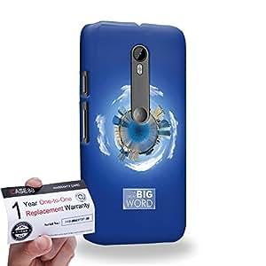 Case88 [Motorola Moto G (3rd gen)] 3D impresa Carcasa/Funda dura para & Tarjeta de garantía - Art Fashion Sapphire Humor Inspiration