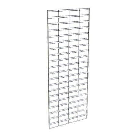 Wire Slatgrid Panel, Chrome, 2ft.x5ft, PK3
