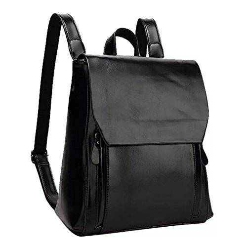 PU europeo bolsas moda de hombro ni mujeres cuero mochila mochila estilo mochila Naerde de de para Negro as o wqpxPzXn5