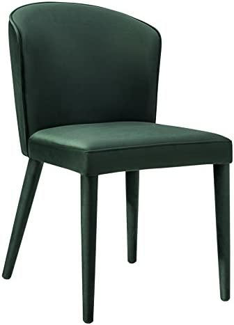 TOV Furniture Metropilitan Collection Velvet Diningroom Accent Chair, Forest Green