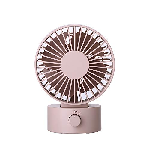 Desk Noiseless USB Fan with Updated Strong Airflow, 2 Speeds, Adjustable Tilt Angle for Better Cooling, Small Fan for Home, Office, Travel (Pink)