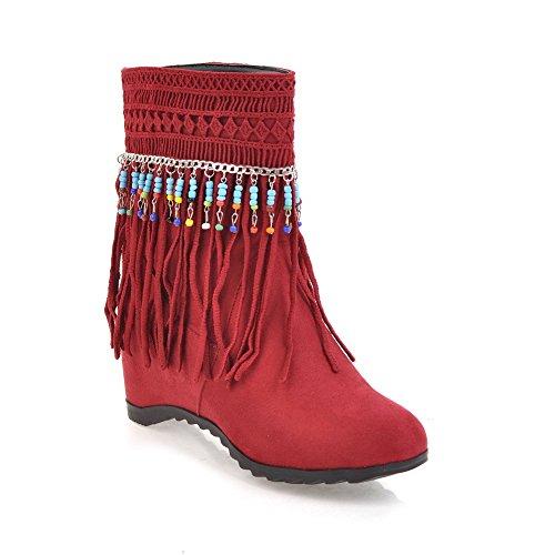 BalaMasa Abl10607, Sandales Compensées Femme - Rouge - Red,