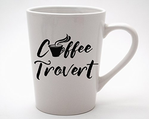 Coffeetrovert Coffee Lovers 14oz White Mug for Introverts Extroverts and Ambiverts (2)