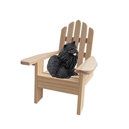 Black Pomeranian Adirondack Chair