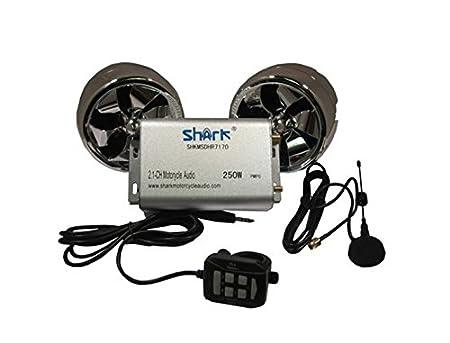 Amazon Shark Motorcycle Audio 250w 2 Speakers Plus Fm Radio