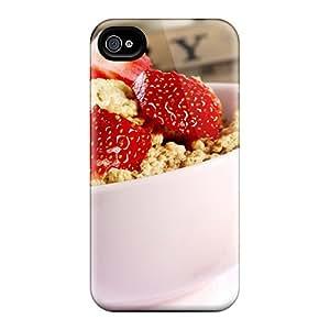 TinnySunshine Premium Protective Hard Case For Iphone 4/4s- Nice Design - Good Breakfast