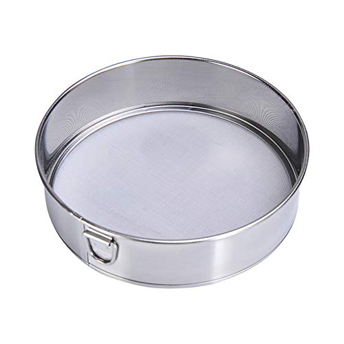 Fine Mesh Flour Sifter 60 Mesh Stainless Steel Sieve for Kitchen and Baking(Size:6 Inch) by Baskchurui