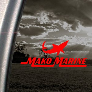 Mako Sharks Red Decal BOAT CRUISER Truck Window Red Sticker