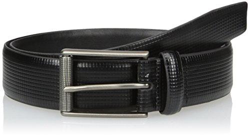 Van Heusen Men's Men's Leather Belt, black, 34 (Mens Leather Vans Belt)