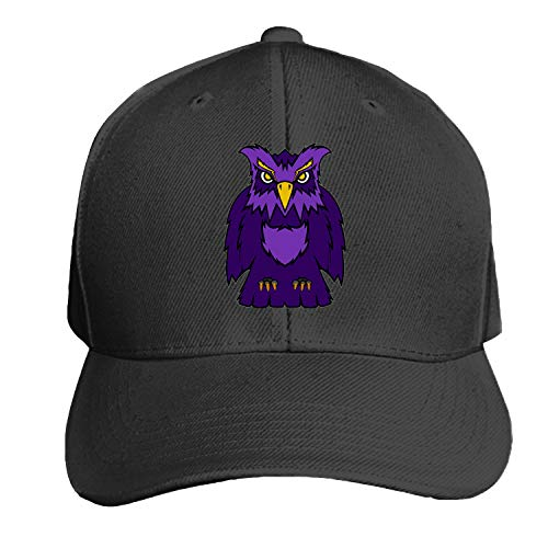 Owl Logo Team Mascot Snapback Cap Flat Bill Hats Adjustable Blank Caps for Men Women