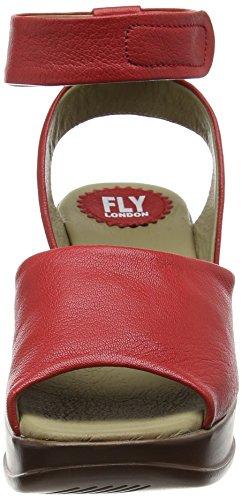 FLY London HERT633FLY - Sandalias con cuña Mujer Rojo