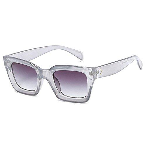 Aoligei Mode image gelée hommes lunettes de soleil rectangulaires tendance européenne lunettes de soleil femmes rondes visage lunettes de soleil D