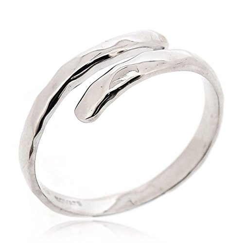 SOVATS Hammered Thumb Ring For Women 925 Sterling Silver Rhodium Plated - Simple, Stylish &Trendy Nickel Free Ring, Size 5