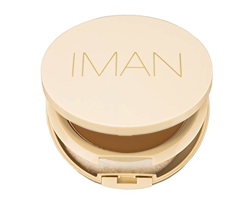 IMAN Cosmetics Perfect Response Oil Blotting Pressed Powder, Medium Skin, Medium Deep