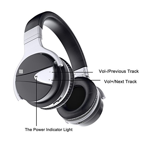 USTEK Wireless Headphones, Active Noise Cancelling Headphones Bluetooth Headphones with Mic Deep Bass Wireless Headphones,Over Ear Bluetooth Stereo Headphones with Microphone Adjustable Earphones ANC by USTEK (Image #3)