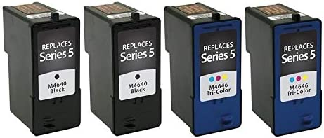SuppliesMAX Compatible Replacement for Dell A922//924//942//944//946//962//964 Inkjet Combo Pack Series 5 UU179/_2PK//UU181/_2PKMP 2-Black//2-Color