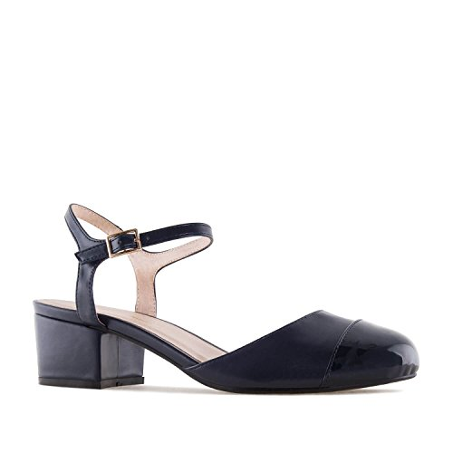 UK Shoes 5 Faux 2 32 5 42 10 Slingback Machado AM5265 to 5 to amp;Large to 45 UK to 35 Andres Petite EU 8 0 Sizes Leather Faux EU Leather Navy wXzWqP